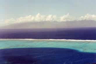 Photo: #015-Le lagon et l'océan Pacifique