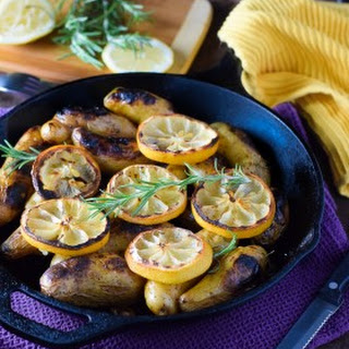 Rosemary and Lemon Roasted Fingerling Potatoes.