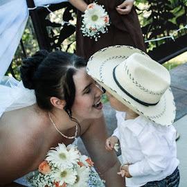 Bride & boy by Shanna L Christensen - Wedding Other