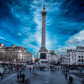 Trafalgar Square by Aamir DreamPix - Buildings & Architecture Architectural Detail ( uk, building, architechture, trafalgar square, architectural detail, architecture, architect, monuments, landmark, landmarks, london, westminister, buildings, architectural, monument )