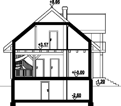 Jaworki 9 dw - Przekrój
