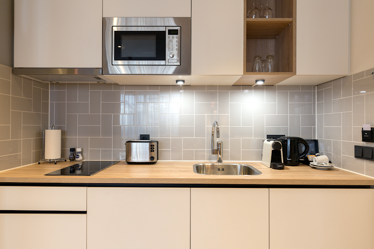 Fully equipped kitchen at Staybridge Suites The Hague