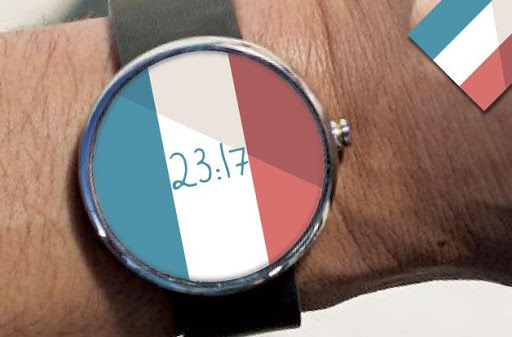 French Flag Watch Face