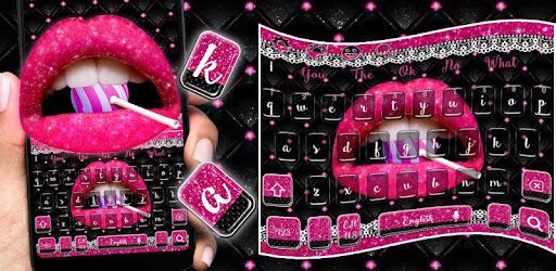 Tải Ứng dụng Glitter Pink Lips Keyboard Theme (apk) cho điện thoại Android/máy tính Windows screenshot