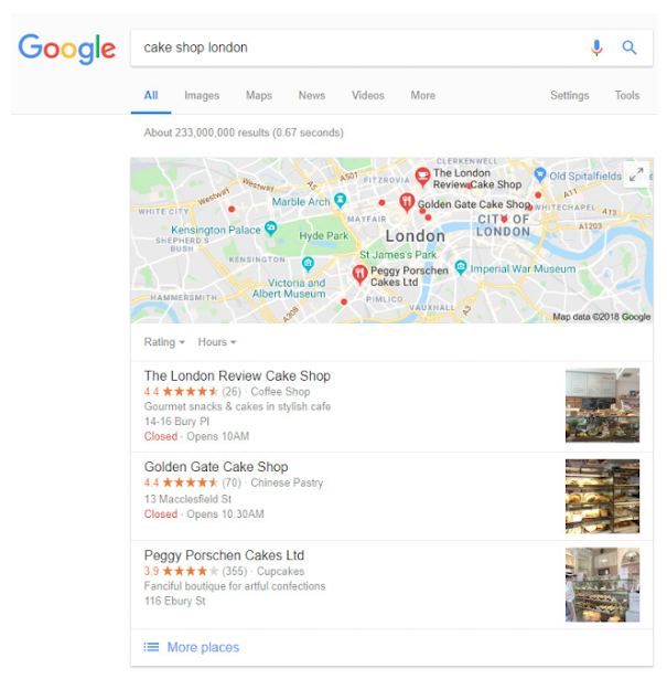 Create listings on Google My Business and other directories