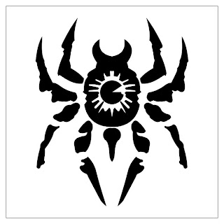 Temporary Tribal Tattoo art spider design