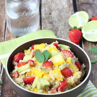 Strawberry, Mango and Avocado Quinoa Salad.