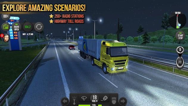 Truck Simulator 2018 : Europe APK screenshot thumbnail 2