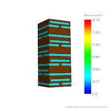 Photo: Anordnung der Lufteinschlüsse der simulierten Bauteilausschnitte Var 1