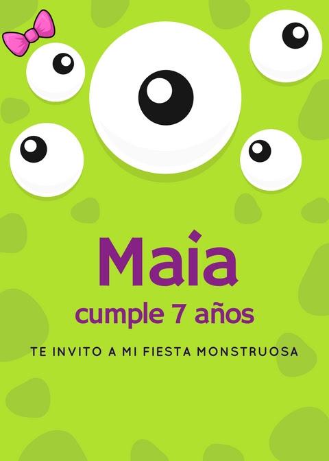 Fiesta infantil de Monstruos | Soy Mamá Blog | Invitación