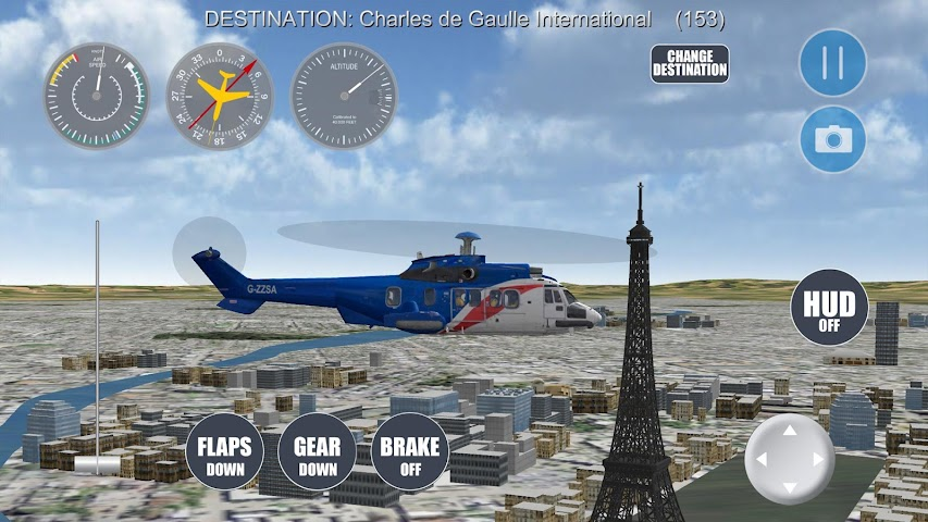 android Airplane Paris Screenshot 13