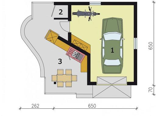 G184 - Rzut garażu