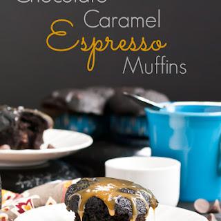 Chocolate Caramel Espresso Muffins