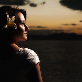 by Scott Myler - Wedding Bride ( great salt lake bridals, sunset bridal, salt flats bridals, salt flats bridal photography, scott myler, photography )