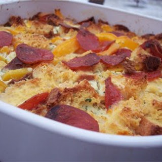 Bacon, Egg, and Cheese Strata