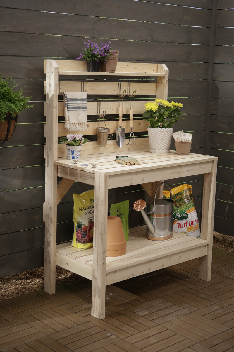 Potting Bench: These 25 Woodworking Projects For The Garden will help you transform your space.