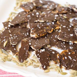 Pumpkin Seed Brittle with Dark Chocolate & Sea Salt
