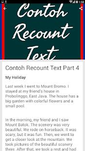 Kumpulan Contoh Recount Text Google Play पर ऐप ल क शन