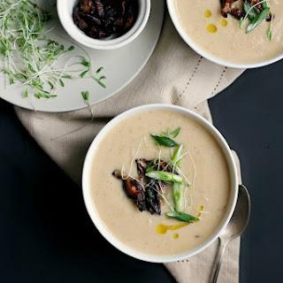 Cauliflower, Parsnip + Miso Soup with Tamari Roasted Shitakes Recipe