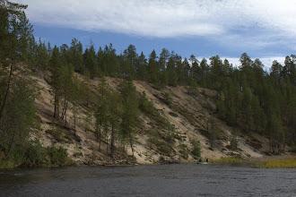 Photo: An erosion slope along the Oulanka River
