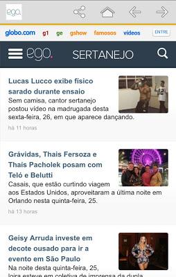 Ego – Notícias de famosos - screenshot