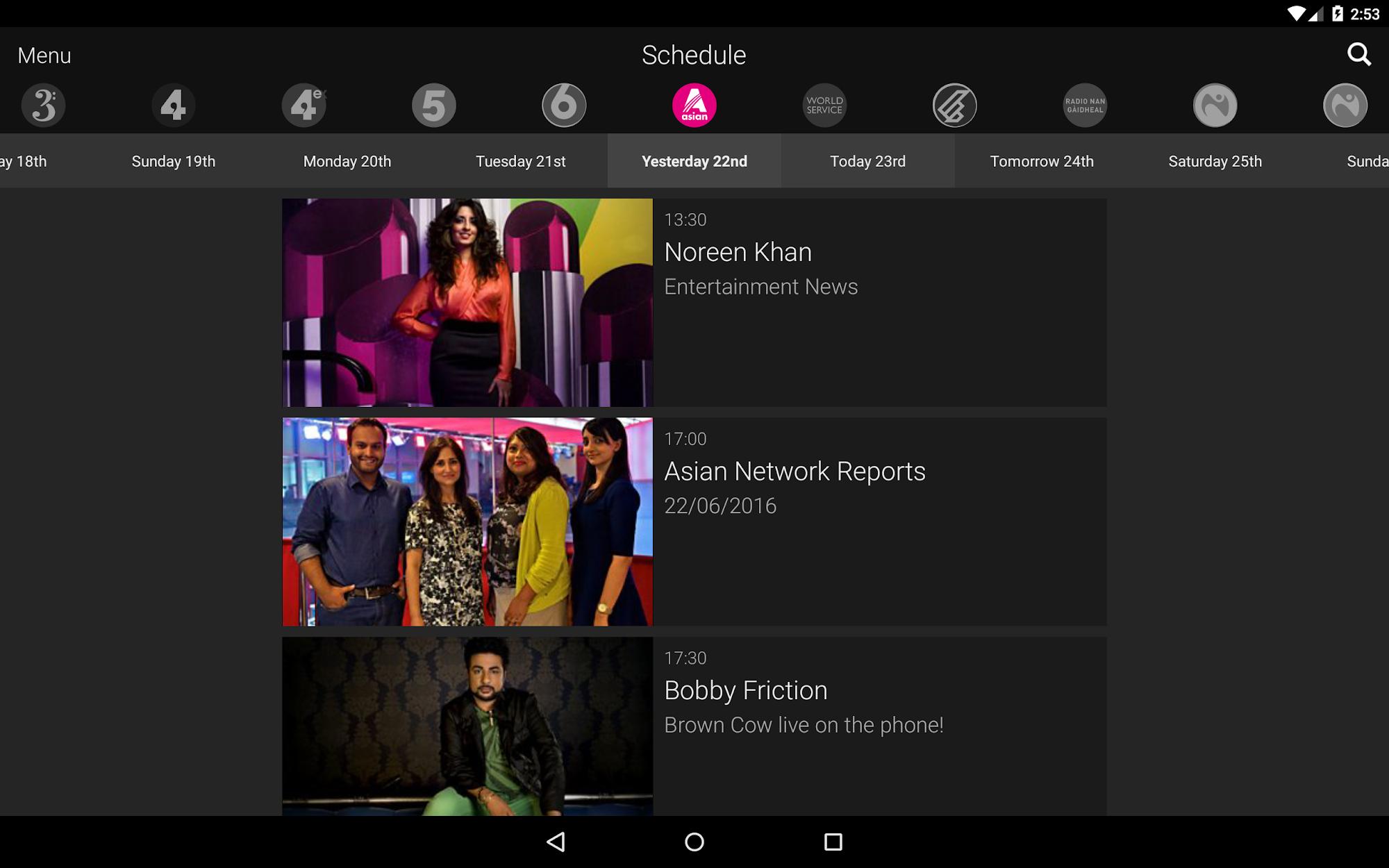BBC iPlayer Radio screenshot #9