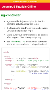 AngularJS Tutorials Offline - náhled