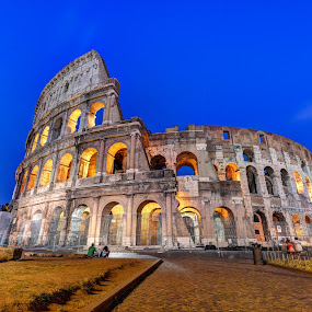 Colosseo at Dusk by Adrian de Vera - Buildings & Architecture Public & Historical