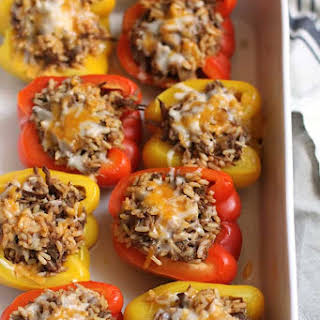 Mexican Beef Stuffed Peppers.