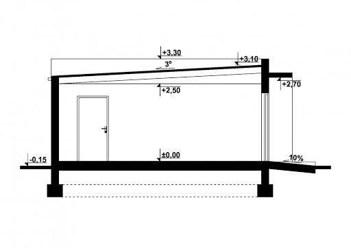 G355 - Budynek garażowo-gospodarczy - Przekrój