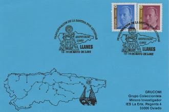 Photo: Matasellos de la Peregrinación de la Santina por Asturias: Llanes del 13 al 19 de mayo de 2001