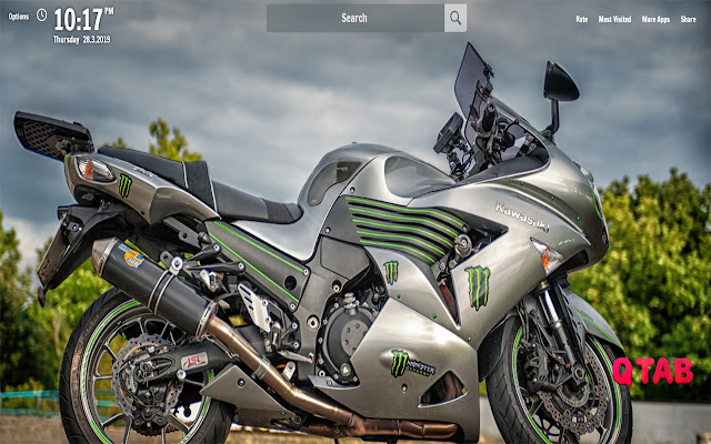 Kawasaki zzr1400 Tab Wallpapers