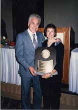 Photo: 1988 Hall of Fame Induction, Cal-State University - Northridge Laszlo Tabori & Jacqueline Hansen