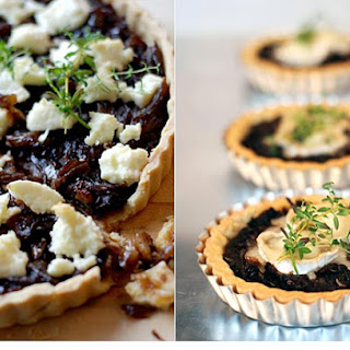 Onion Tart With Goats' Cheese And Thyme