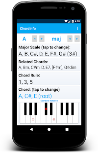 Chord Information Screenshot