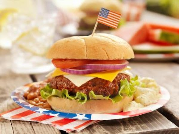All American Grilled Hamburgers Recipe