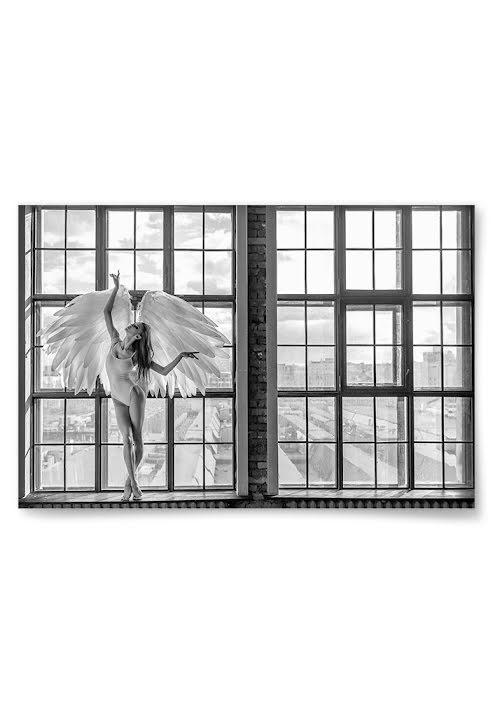 Poster Ängel i Fönster