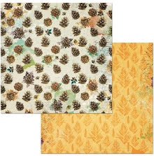 BoBunny Dreams Of Autumn Double-Sided Cardstock 12X12 - Pinecones UTGÅENDE