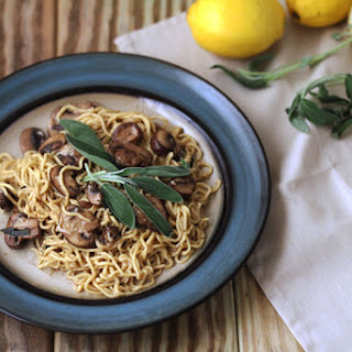 Mushroom and Sage Brown Butter Pasta