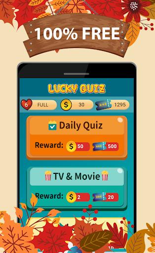 Lucky Quiz -Free gift & cash, 2020 fun trivia game 1.528 screenshots 2