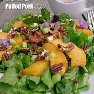 Peach Pecan Pulled Pork Salad.