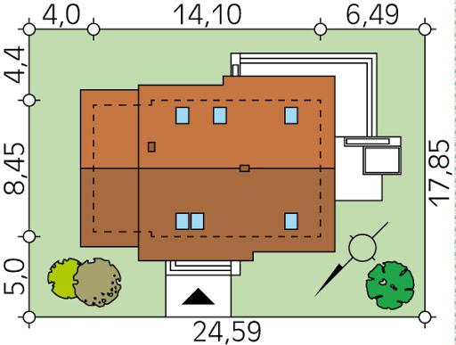 Azuryt NF40 KO - Sytuacja