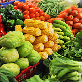 vegetables at traditional market by Barry Rattu - Food & Drink Fruits & Vegetables ( products & objects, food and drink, nature up close, artistic objects, pwcvegetables )