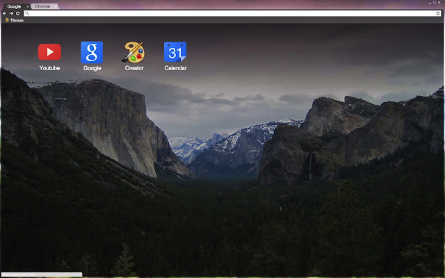 Yosemite in winter chrome web store - Winter theme chrome ...