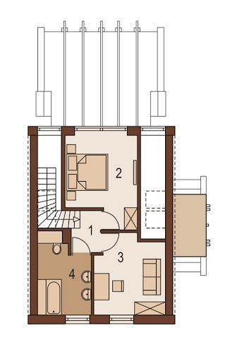 Delta - Rzut piętra