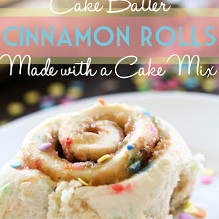 Cake Batter Cinnamon Rolls {Made from a Cake Mix!}