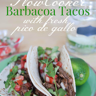 Crockpot Barbacoa Tacos With Fresh Pico de Gallo #PinterestRemakes