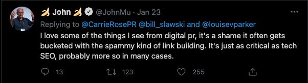 Digital PR Tweet