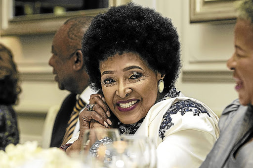 Mama Winnie celebrating her 80th birthday at Planet restaurant in Cape Town on September 14 2016.