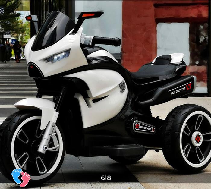 Xe mô tô điện cho bé điều khiển tay ga LT-618 13
